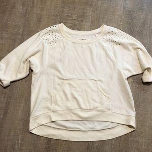 Comfy 3/4 sleeve bling sweatshirt!